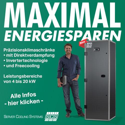 Maximal Energiesparen mit den neuen SCS Präzisionsklimaschränken mit Invertertechnologie